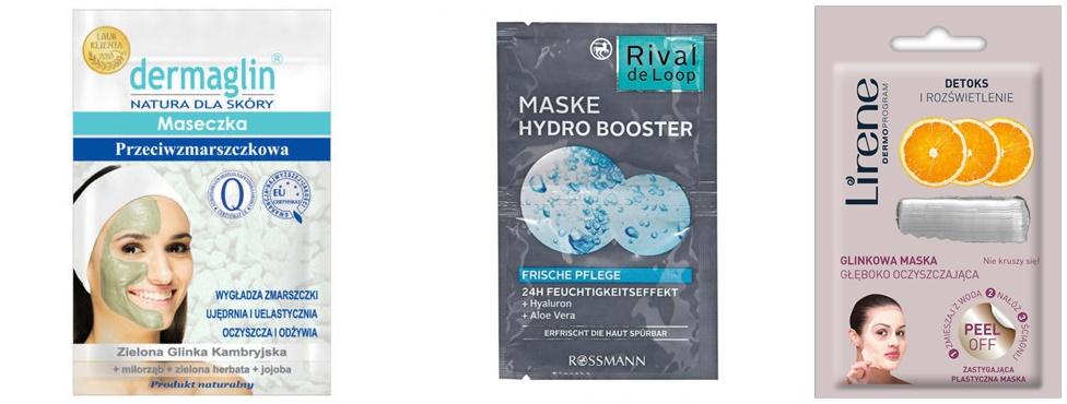 annemarie maseczka Lirene dermoprogram detoks   Rival de loop hydro booster   dermaglin przeciwzmarszczkowa