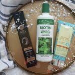 Włosing: Natura Siberica Men szampon aktywator wzrostu, rokitnikowy peeling oraz Mill Creek Botanicals Biotin Shampoo