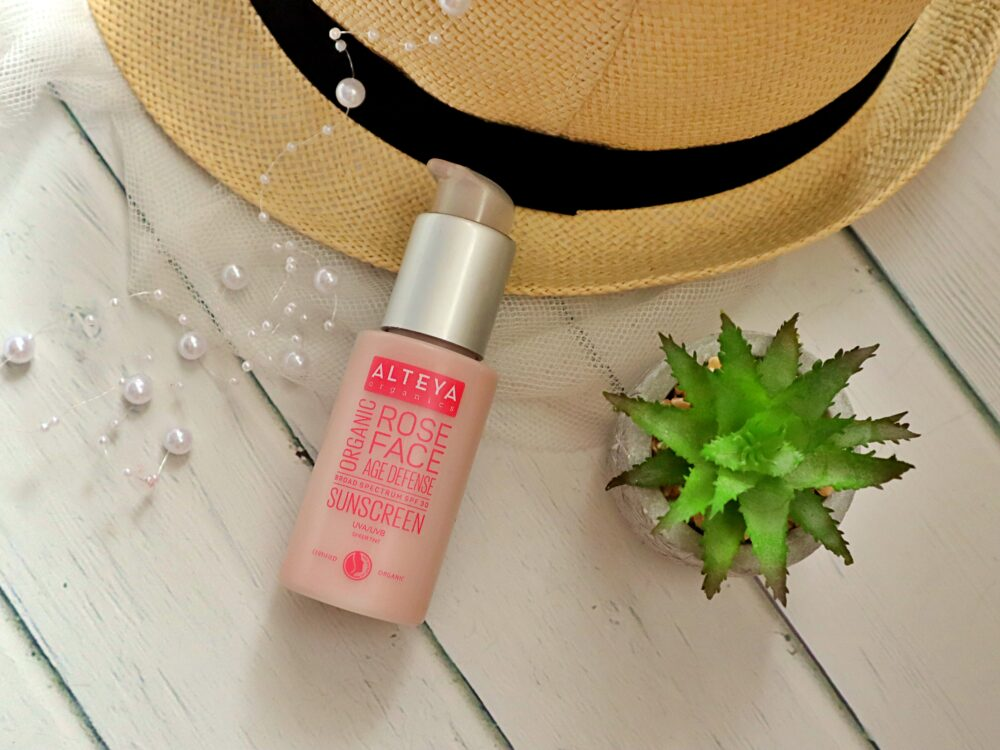 Alteya organics krem SPF 30 rose face age defense