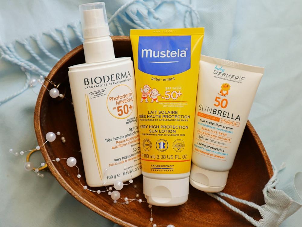 filtry apteczne Mustela, Bioderma, Dermedic